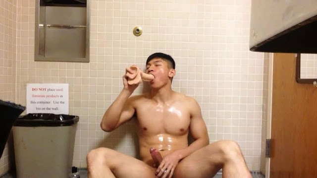 Amateur Contribution – Athlete Solo Action In Public Toilet